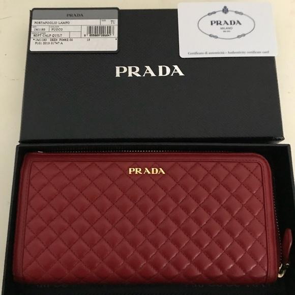 a3fe652dfef1 Prada red leather wallet. M_5b13206d5c4452f3d825800e